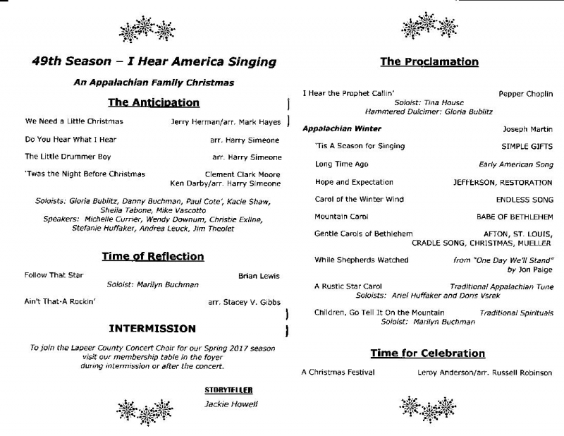 Christmas Program Anthems
